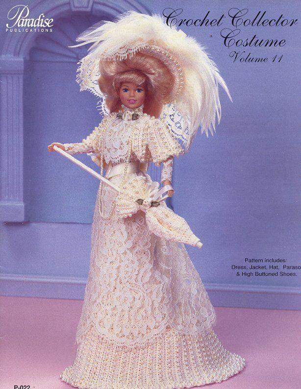 1908 Zhivago Winter Costume Paradise #99 for Barbie Doll Crochet Pattern NEW