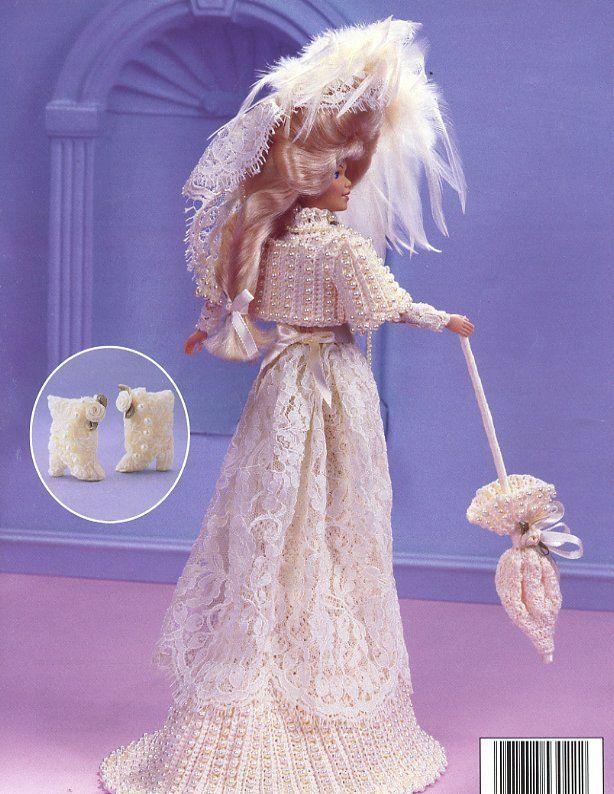 1901 Wedding Reception Frock for Barbie Doll Paradise vol 11 Crochet PATTERN