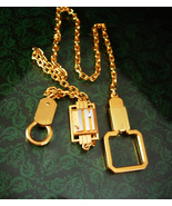 Gold filled Watch Chain Art deco Vintage Personalized JM initial Letter ... - $165.00