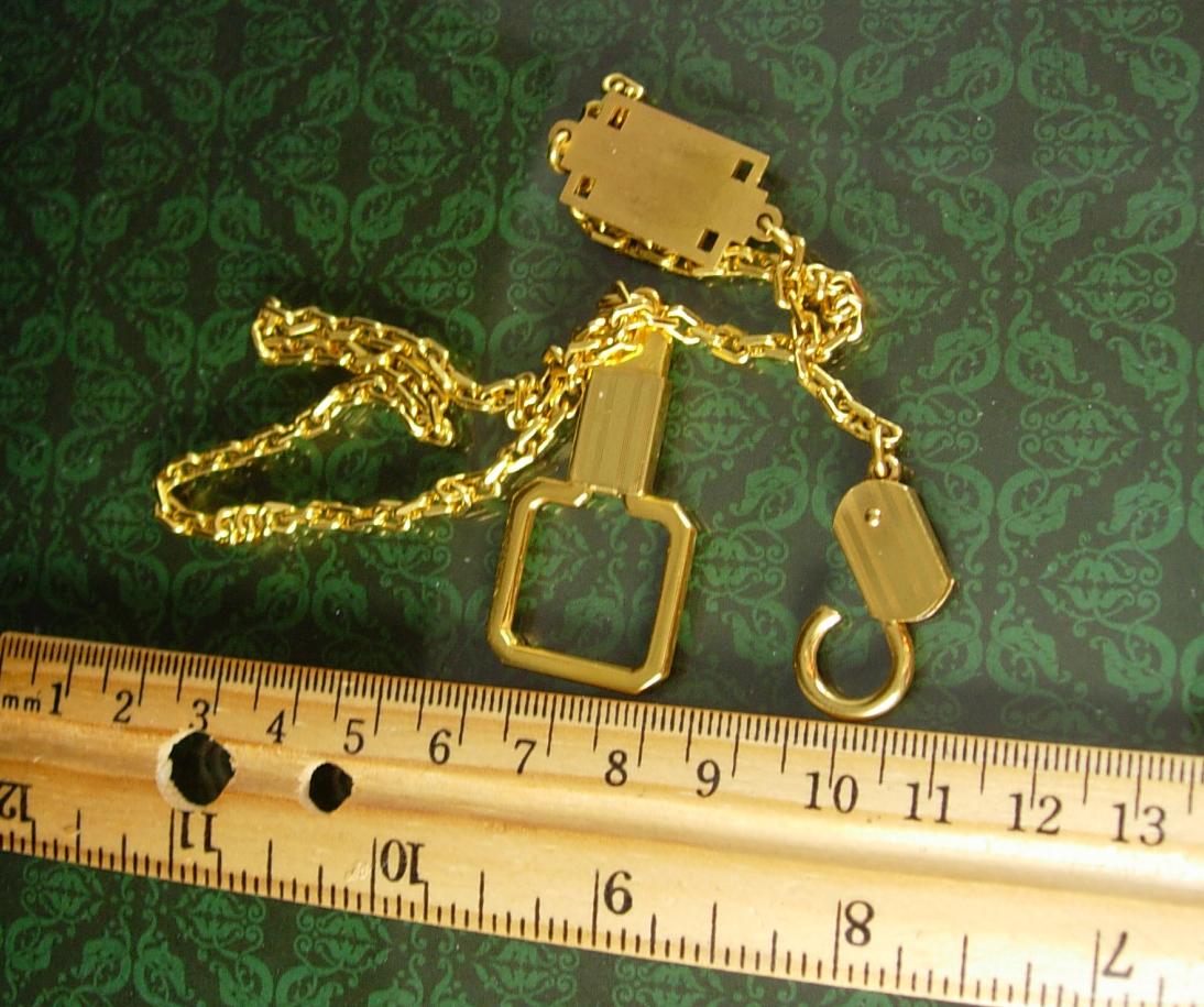 Gold filled Watch Chain Art deco Vintage Personalized JM initial Letter mens ves