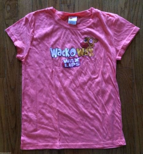 New Authentic Juniors Wack-O-Wax Wax Lips Tee Shirt Size Large Clearance