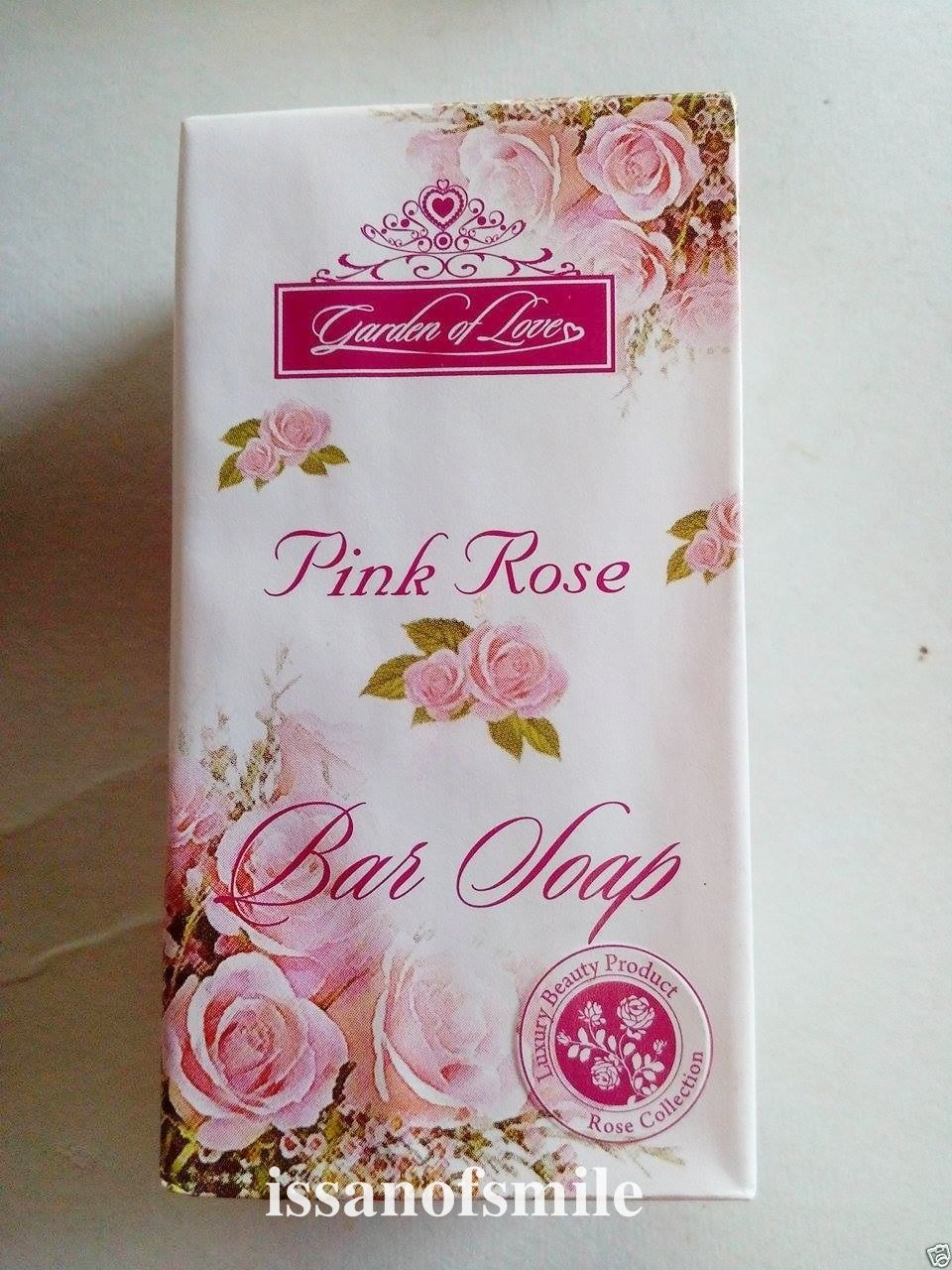 3 Bars Garden of love Pink Rose Bar Soap Cleansing Soft Skin & Smooth