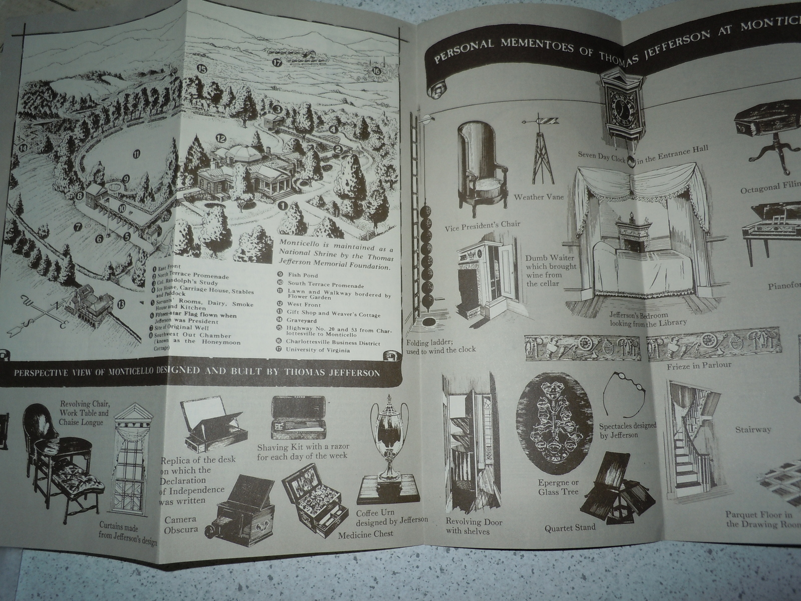 Monticello The Home Of Thomas Jefferson Virginia Brochure