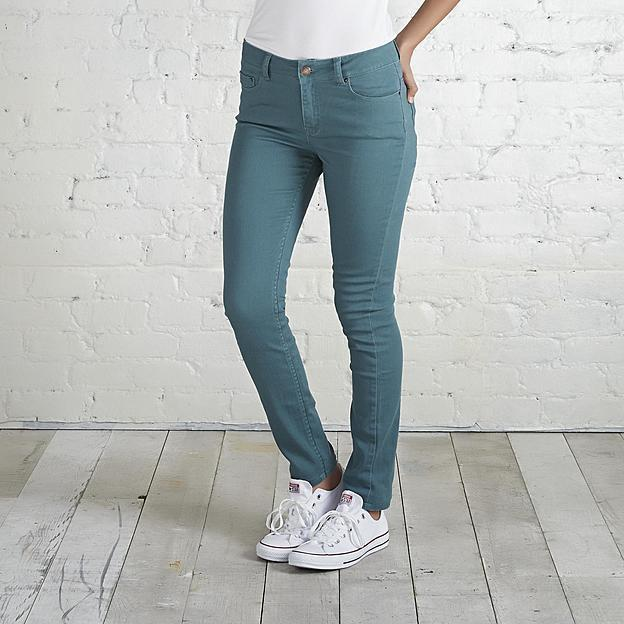 Adam Levine The Skinny Womens Colored Skinny Jean GREEN SIZE 7/8