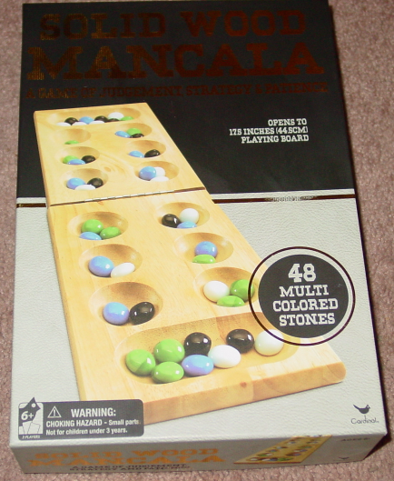 MANCALA SOLID WOOD CARDINAL NEW FACTORY SEALED GAME OPEN BOX
