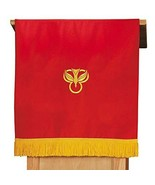Red/White Pulpit Scarf with Fringe - $52.97