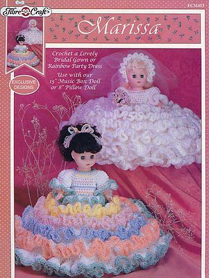 Marissa Doll Bride & Rainbow Party Outfit Crochet Pattern FCM453 30 Days To Pay!