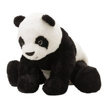 IKEA KRAMIG Panda Bear Stuffed Toy Plush Kids Gift Baby Soft Animal Blac... - $13.10