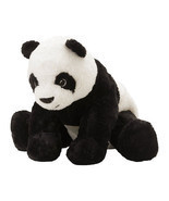 IKEA KRAMIG Panda Bear Stuffed Toy Plush Kids Gift Baby Soft Animal Blac... - $249,45 MXN