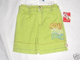 Fisher-Price Toddler  Boys Green Shorts   Size -4T  NWT - $9.69