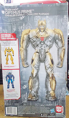 Transformers Age of Extinction Optimus Prime Silver Knight Damaged Torn Box New