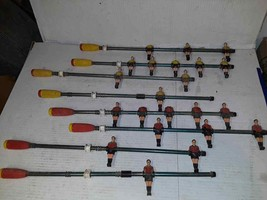 20 Vintage Plastic FOOSBALL Players Red & Yellow Uniforms Original Paint... - $93.46