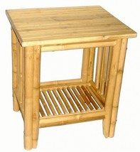 Deluxe Bamboo Tiki Patio Deck or Indoor End Table / Side Table Free Ship... - $84.23