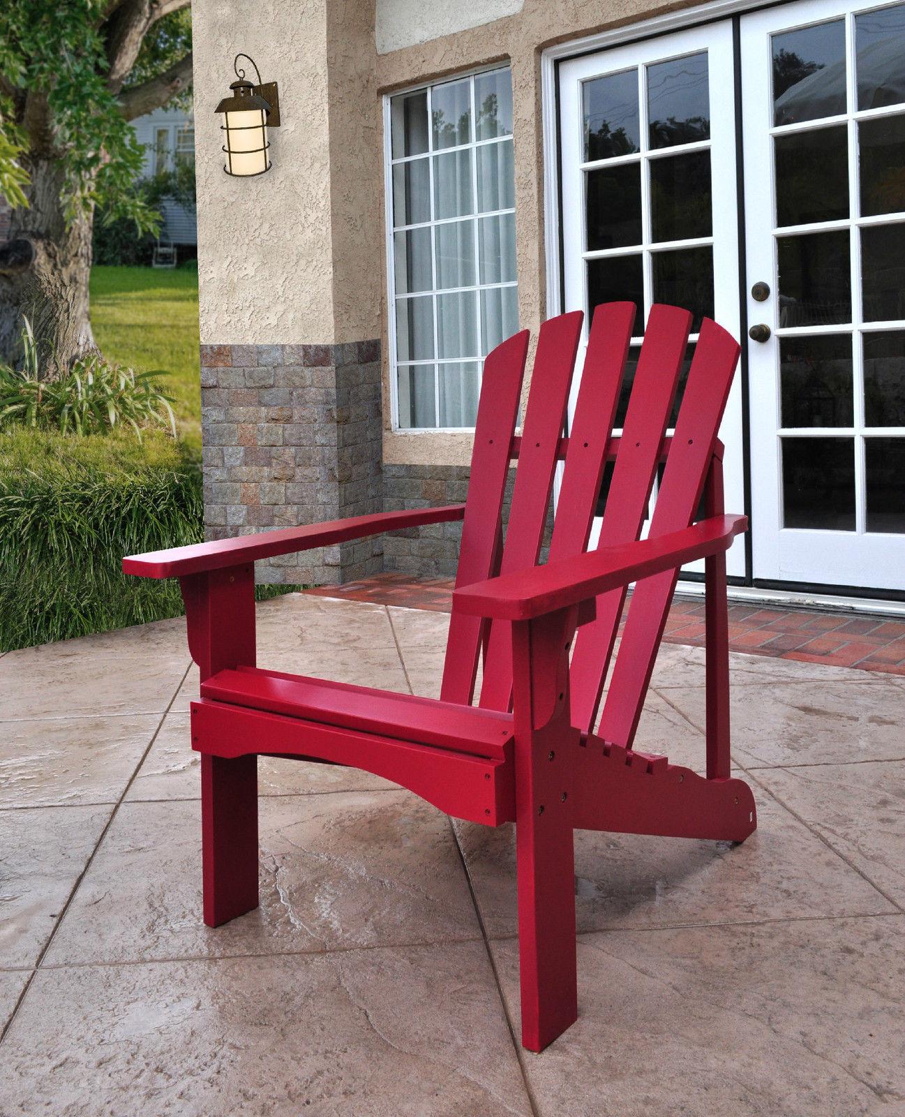 Cedar Adirondack Chair Shine Company Rockport Patio Deck 9 Colors