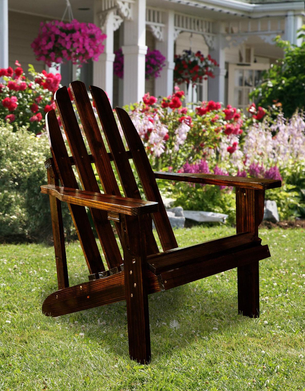 Catalina Cedar Adirondack Chair Shine Company 6 Colors Patio Deck