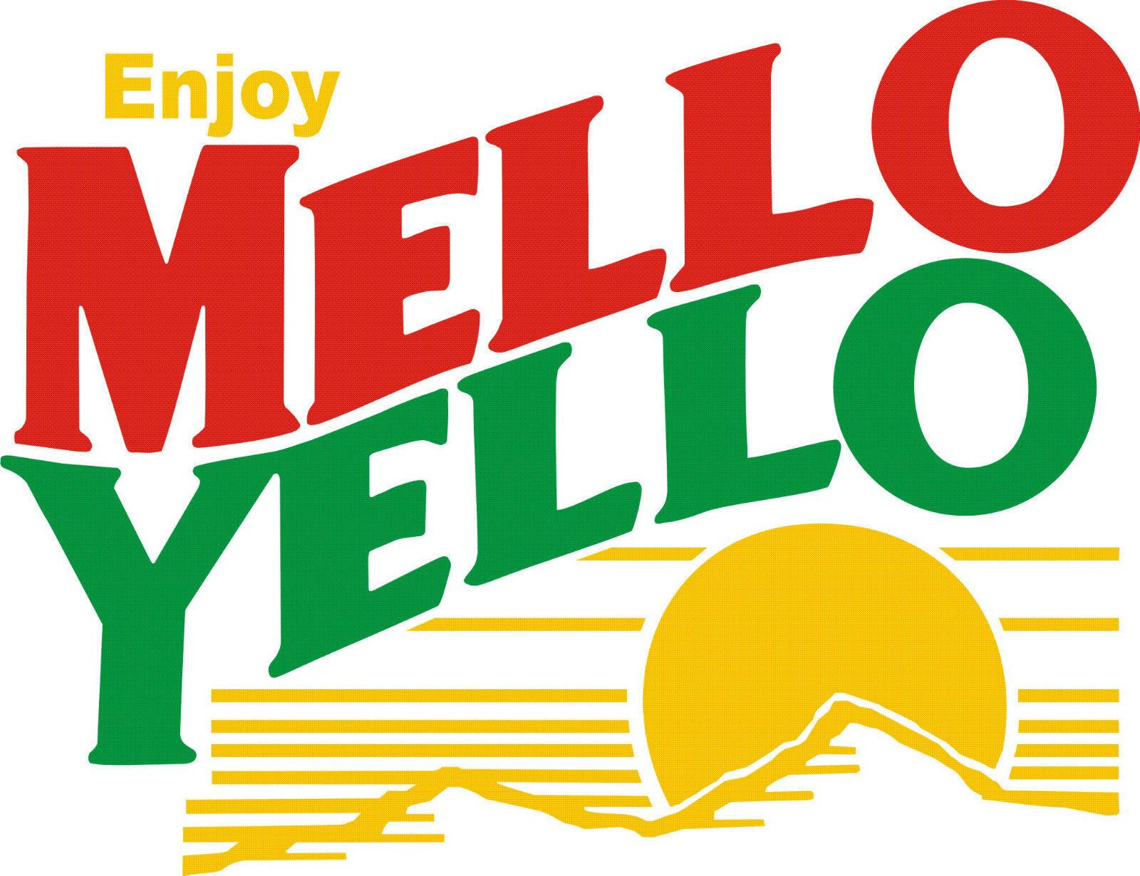Mello Yello T shirt retro soda vintage logo 80's 100% cotton graphic tee