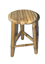 Bamboo Tiki Patio Deck Tripod Stools, Set of 2, Factory Warehouse Direct - $77.95