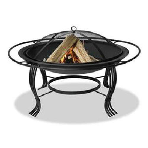 Uniflame 30 inch Wrought Iron Patio Deck Wood Burning Fireplace / Fire Pit