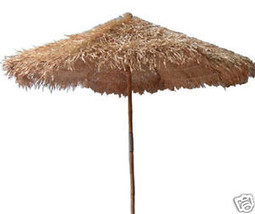 Bamboo Tiki Thatch Umbrella 9ft Palapa Patio Deck - ₨19,870.24 INR