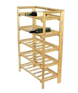 Bamboo Tiki 5 Shelf Patio Deck or Indoor Wine Rack or Display Rack - $117.55