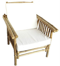 Bamboo Tiki Deluxe 2- Position Patio Deck Armchair with Cushion  - $191.05