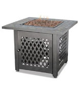 Uniflame 30,000 btu lp Propane Patio Deck Fire Pit with Slate Tile - £206.75 GBP