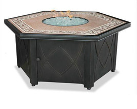 "Uniflame LP Fire Pit 55"" Hexagon Outdoor Patio Deck 30,000 btu Propane F... - $785.00"