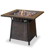 Uniflame Slate  Fire Pit Outdoor 30,000 btu lp Propane Patio Deck - €254,77 EUR