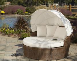 Panama Jack Key Biscayne Synthetic Wicker Tiki Canopy Day Bed w/ Cushion - $1,789.00