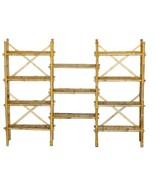 Bamboo Tiki Bookshelf Rack Adjustable 3 section Expanded Patio Deck  - $254.75