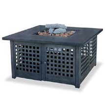 "Uniflame 41"" Dark Tile Outdoor 40,000 btu lp Propane Patio Deck Fire Pit - $597.75"