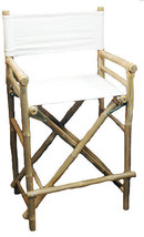 Bamboo Tiki Bar Stool Patio Deck Folding Directors Chair Set of 2 - $174.95