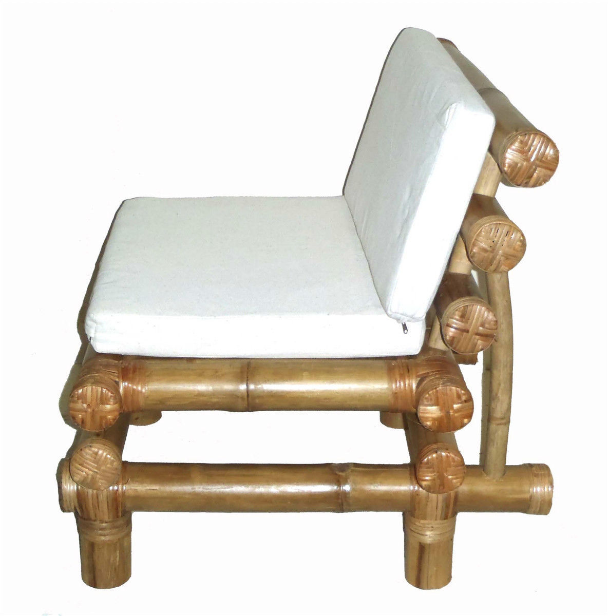 Bamboo Tiki Payang Patio Deck Chair with Cushion Factory Direct
