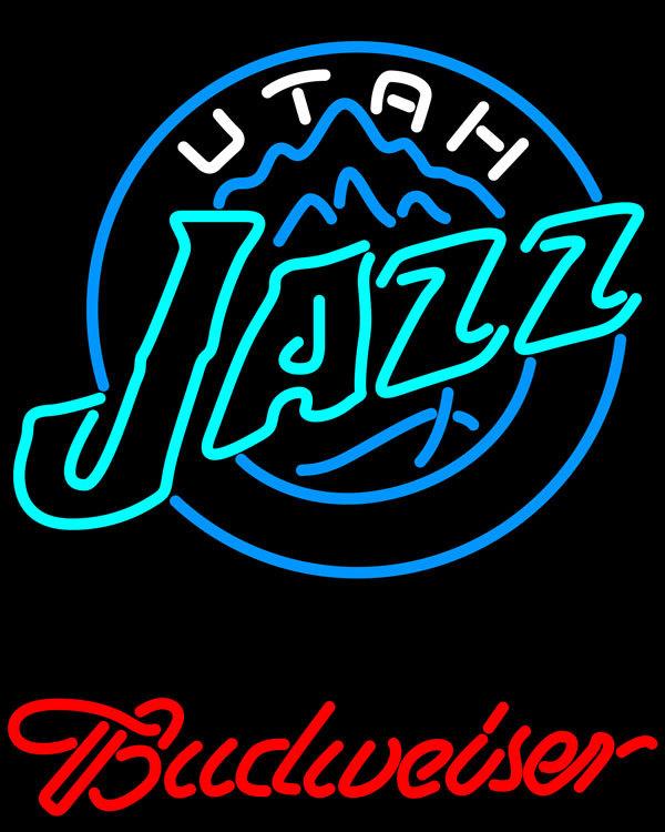 Nba budweiser utah jazz neon sign 16  x 16