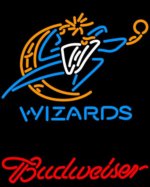 Nba budweiser washington wizards neon sign 16  x 16