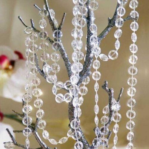 Beautiful 30M Garland Strand Acrylic Crystal Bead Curtain Wedding DIY Home Decor