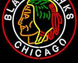Budweiser commemorative 1938 chicago blackhawks neon sign 24  x 24  thumb155 crop