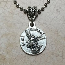 Saint Michael Archangel Protection Medal Pendant Protect Marine Corps Catholic - $11.99
