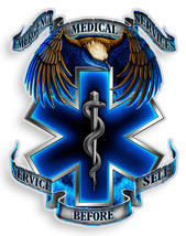 Ems  Service Before Self  3 M Window Decal...High Quality  Awesome - $10.99+