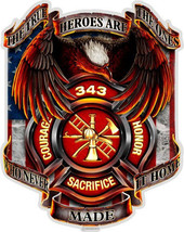 Firefighter  True Heroes Tribute    3 M Window Decal...High Quality  Awesome - $10.99+