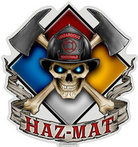"Fireman  ""Haz Mat""  3 M Window Decal...High Quality  Awesome - $10.99+"