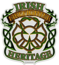 Firefighter With Irish Heritage    3 M Window Decal...High Quality  Awesome - $10.99+