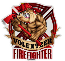 FIREFIGHTER TRIBUTE WITH RED BULLDOG- 3M WINDOW... - $10.99 - $25.99