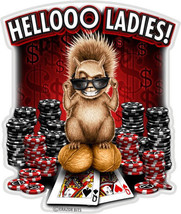 Helloo Ladies With Poker Chips/Cards  3 M Window Decal...High Quality  Awesome - $10.99+