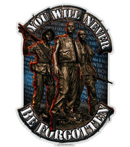 You Will Never Be Forgotten  Soldier  3 M Window Decal...High Quality  Awesome - $10.99+