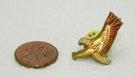 Vintage Late 1970's Early 1980's Flying Bald Eagle Enamel Scatter Hat Lapel Pin - $7.92