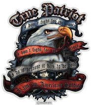 True Patriot  Americna Soldier Tribute  3 M Window Decal...High Quality  Awesome - $10.99+