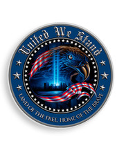 United We Stand  With American Eagle   3 M Window Decal...High Quality  Awesome - $10.99+