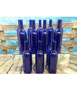 12 750ml Deep Blue Cobalt Bordeaux Wine/Beer Bottles Wedding Home Brew Decor  - $27.66