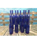 12 750ml Deep Blue Cobalt Stretch Hock Wine Bottles NEW Weddings Home Brew Party - $27.66